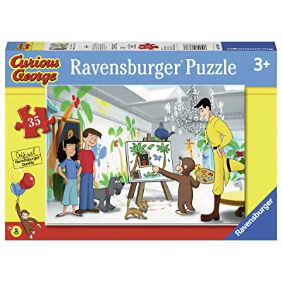 Ravensburger Look Curious George! 35 Piece Jigsaw Puzzle Set for Kids - Every Piece is Unique, Pieces Fit Together Perfectly: Toys & Games