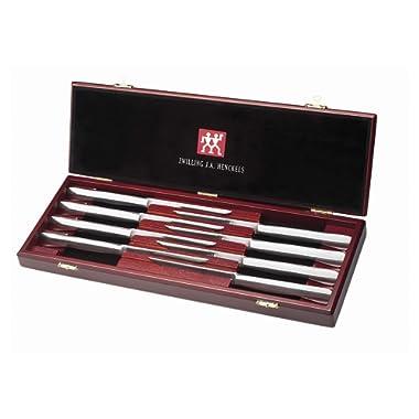J.A. Henckels 8-Piece Stainless-Steel Steak Knife Set in Wood Gift Box