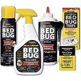 HARRIS Bed Bug Killer Value Bundle Kit - 32oz Bed Bug Killer, 16oz Aerosol Spray, 4oz Bed Bug Powder w/Brush, 4-Pack Bed Bug