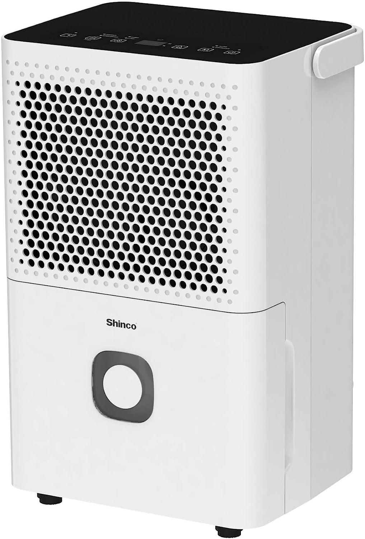 Shinco 1500 Sq.Ft Dehumidifier for Medium Room, Home, Basement, Bedroom, Bathroom, Auto or Manual Drain, Quietly Remove Moisture & Control Humidity