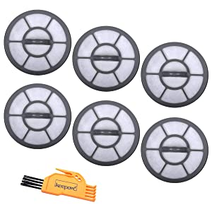 KEEPOW Exhaust Filter EF-7 for Eureka Airspeed Models AS3001A, AS3011A, AS3030A, AS3033A, Part # 091541 (6 Pack)