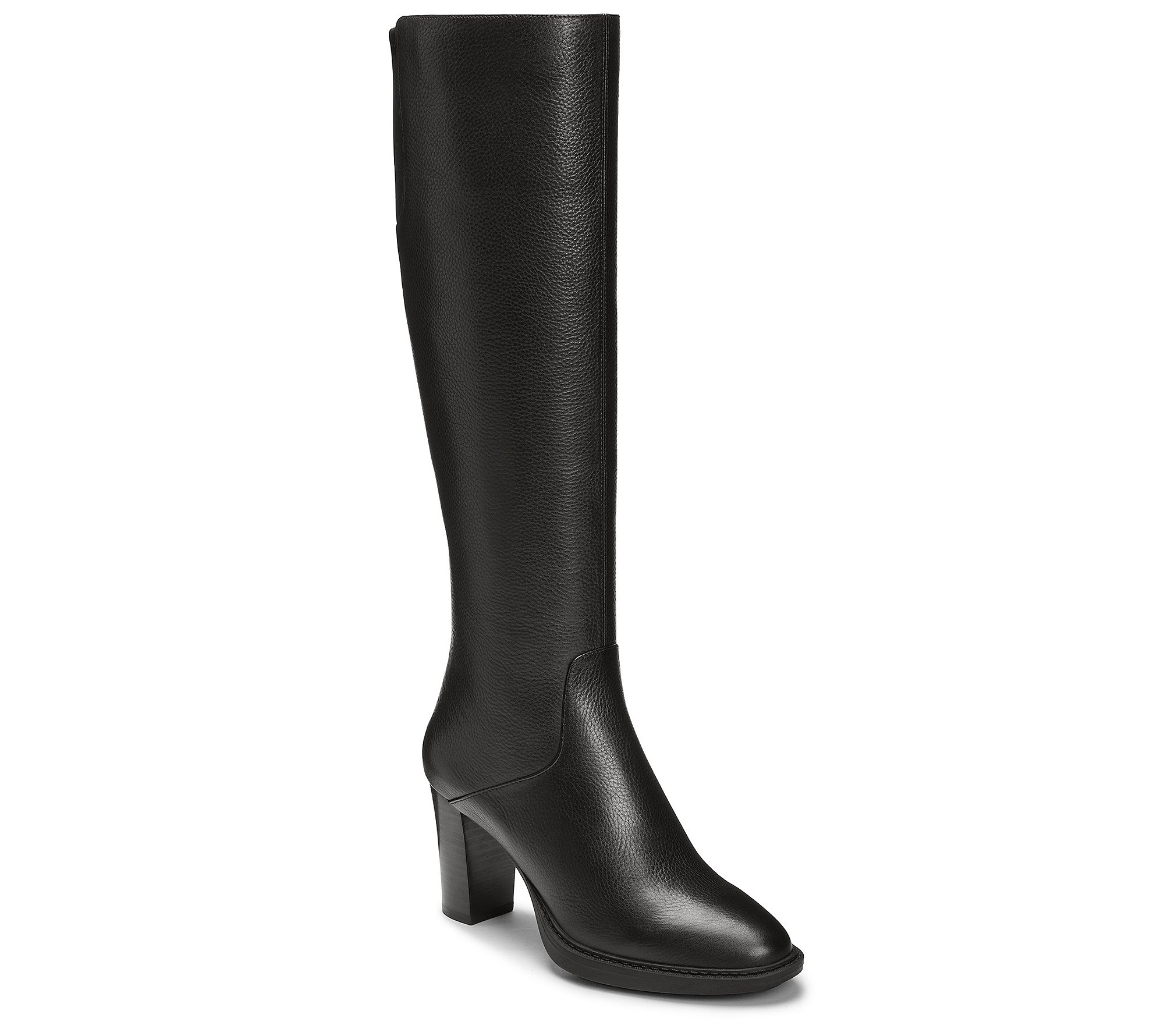Aerosoles Women's Real Fact Knee High Boot, Black Leather, 8 M US by Aerosoles