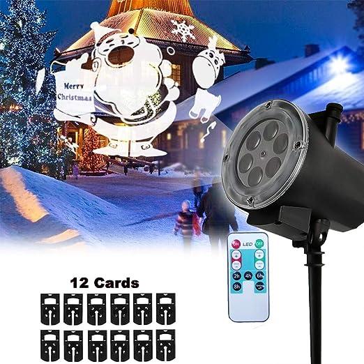 EFGS Proyector De Luz LED De Navidad, Control Remoto 3D Proyector ...