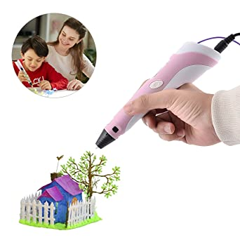 Yellow Art and Craft Making Compatible with PLA//ABS Filaments Best Gift DIY 3D Modeling for Kids or Adult BANGBO Intelligent 3D Drawing Pen with OLED Display for Doodling