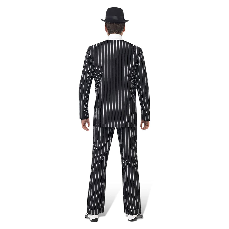 Herren 1920er Razzle Fancy Kleid Party Vintage Vintage Vintage Gangster Boss Komplettes Kostüm, Herren, schwarz 99b3ba