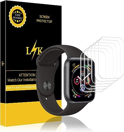 Imagen deLK Protector de Pantalla para Apple Watch 40mm Series 5/4, [6 Pack] [Tecnología de autocuración] [HD Film Flexible] [Anti-Mancha] HD Soft Claro Suave Protector