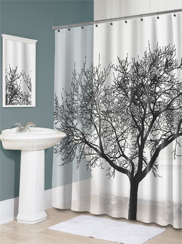 Amazon Airstomi Tree Style Waterproof Fashion Shower Curtain For Bathroom