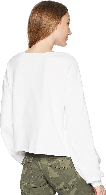 Romeo /& Juliet Couture Womens Balloon Sleeve Cropped Sweatshirt
