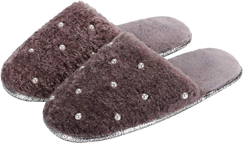 K KomForme Ladies' Memory Foam Slippers