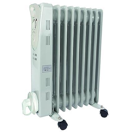 Radiador de aceite 2000 W 3stufen 9rippen 60 x 41 x 12 cm calefactor eléctrico Radiador