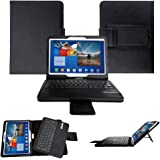 Invero® Leather Stand Case Cover with Magnetic Detachable Wireless Bluetooth Keyboard for Samsung Galaxy Tab 3 10.1 Inch GT-P5200, GT-P5210