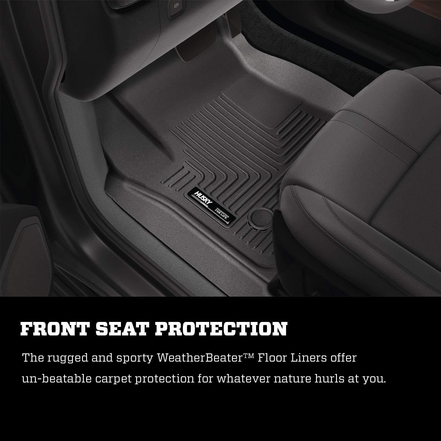 Black Husky Liners Custom Fit Front and Second Seat Floor Liner Set for Select Honda Civic Models