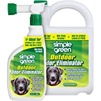SIMPLE GREEN Outdoor Odor Eliminator for Pets, Dogs, Ideal for Artificial Grass & Patio (32 oz…