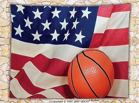 Deportes Decor manta de forro polar de baloncesto de la bandera ...
