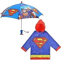 DC Comics - Juego de paraguas y paraguas de Batman o Superman