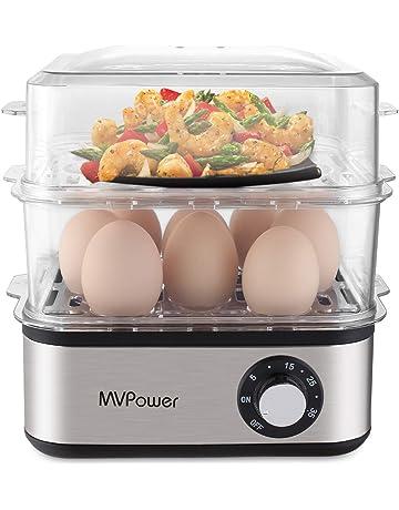 MVPOWER Cocina de Huevos Eléctrico,Capacidad de 16 Huevos, Hornillo Eléctrico a Vapor con