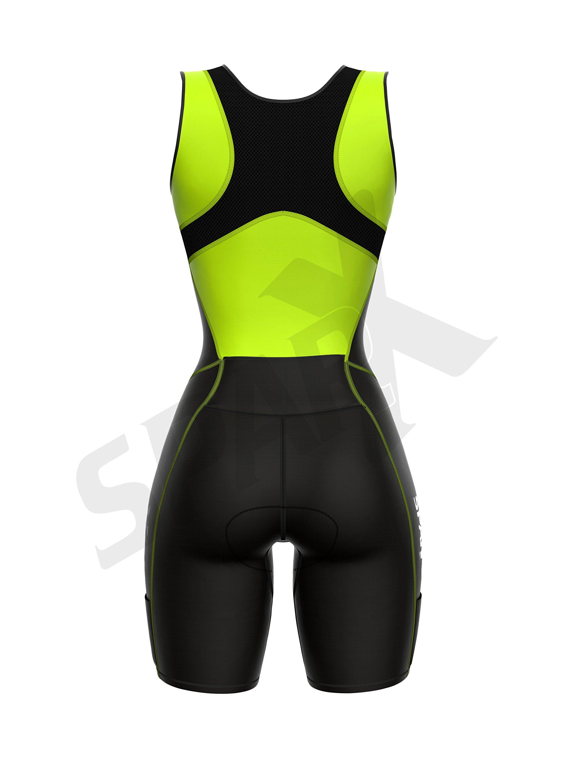 Sparx Women Triathlon Suit Tri Short Racing Cycling Swim Run (Small, Neon Green) by Sparx Sports (Image #5)