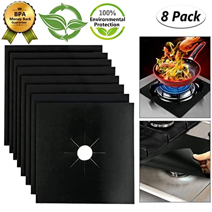 Amazoncom Stove Burner Covers Gas Stove Protectors Reusable Gas