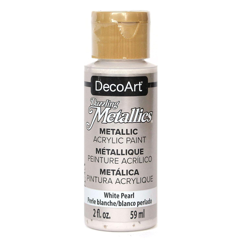 DecoArt Dazzling Metallics 2-Ounce Shimmering Silver Acrylic Paint DM-DA070