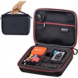 Smatree SmaCase G160 Carrying Case for Gopro Hero 6, 5, 4, 3+, 3, 2, 1(Camera and Accessories NOT included) -Black&Red