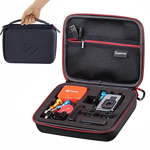 Smatree SmaCase G160 Carrying Case for Gopro Hero 6, 5, 4, 3+, 3, 2, 1( Camera and Accessories NOT included) -Black&Red