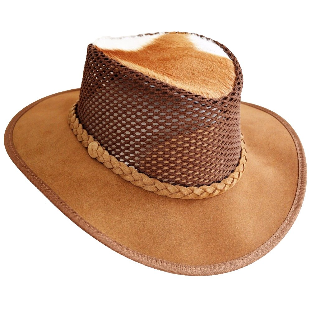 61-62cm Cowboy//Outback//Aussie Style Size:XXL Leather Hat Brown Waxy Hand Crafted