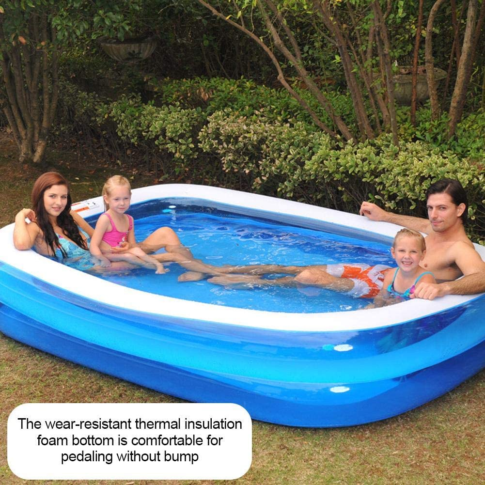 Piscina hinchable familiar, piscina de bolas marinas con fondo de ...