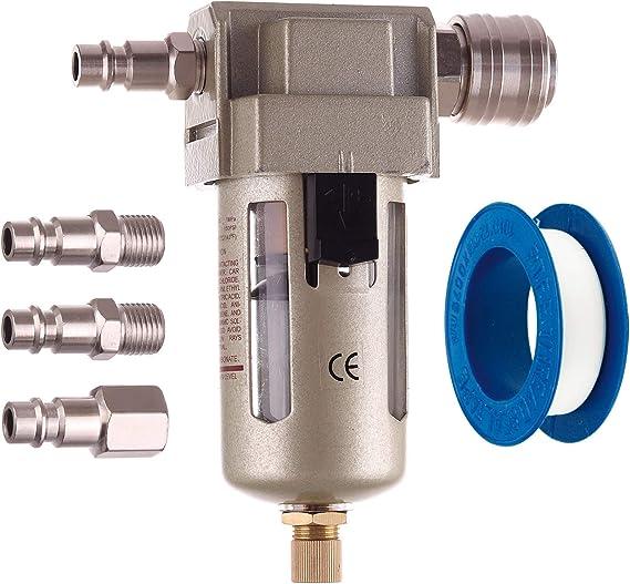 Druckluft Filter Wasserabscheider Ölabscheider Wartungseinheit Inklusive Schnellkupplung 1 4 Satz Baumarkt