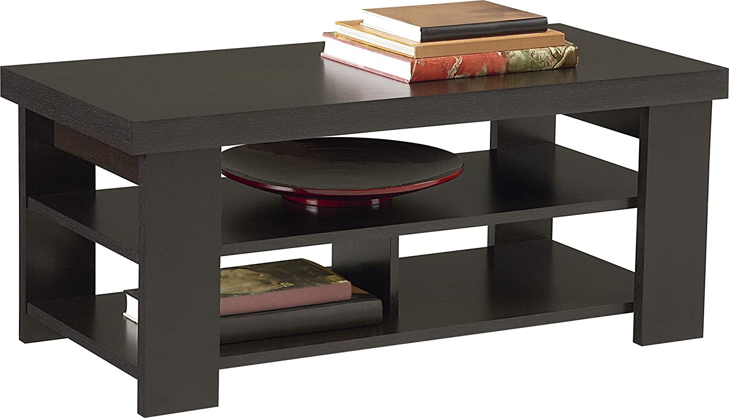 Black and wood coffee table - Black And Wood Coffee Table 6