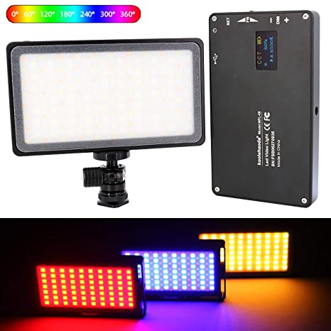 koolehaoda RGB Led Video Light 2500k-8500k Mini tamaño de Bolsillo ...