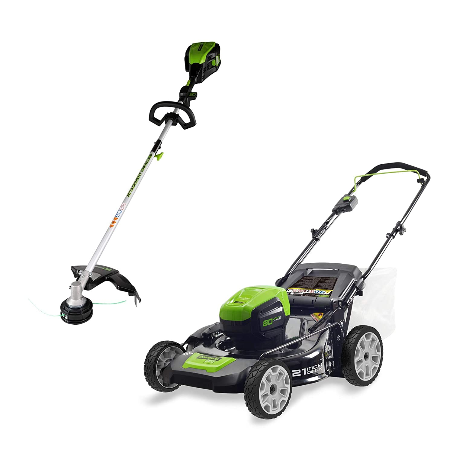 Amazon.com: Greenworks PRO - Cortacésped inalámbrico de 21 ...