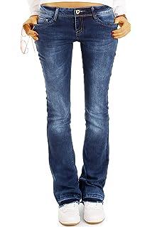97ad9be0521f bestyledberlin Superstretch Bootcut Jeans Hose, Damen Schlagjeans in ...