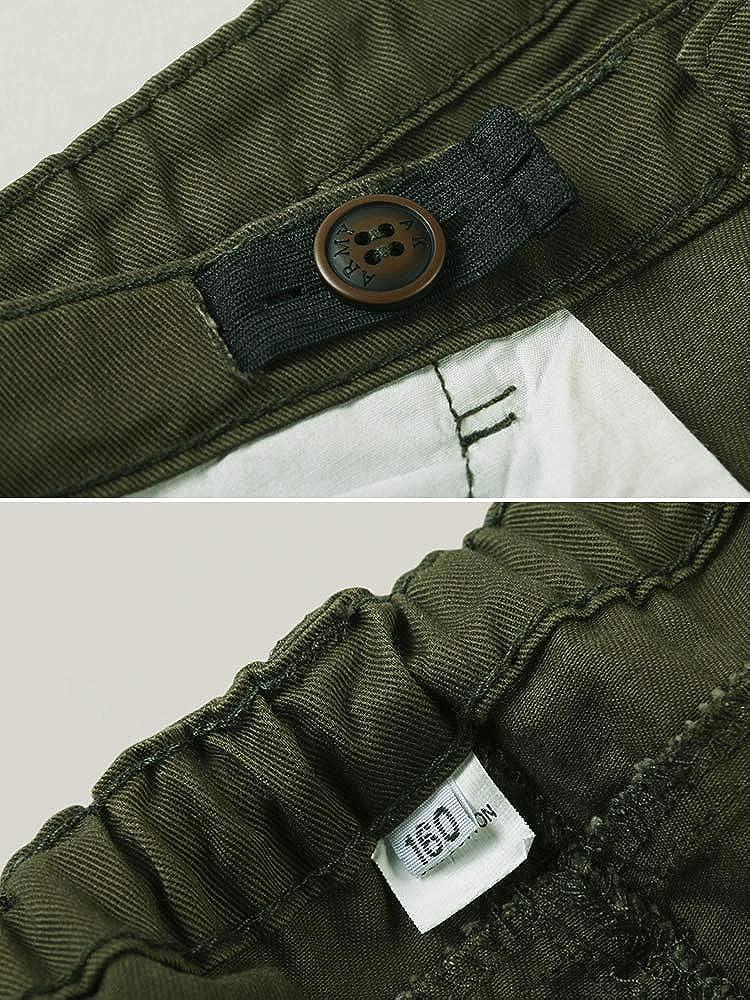 OCHENTA Boys Cotton Military Cargo Pants 8 Pockets Casual Outdoor