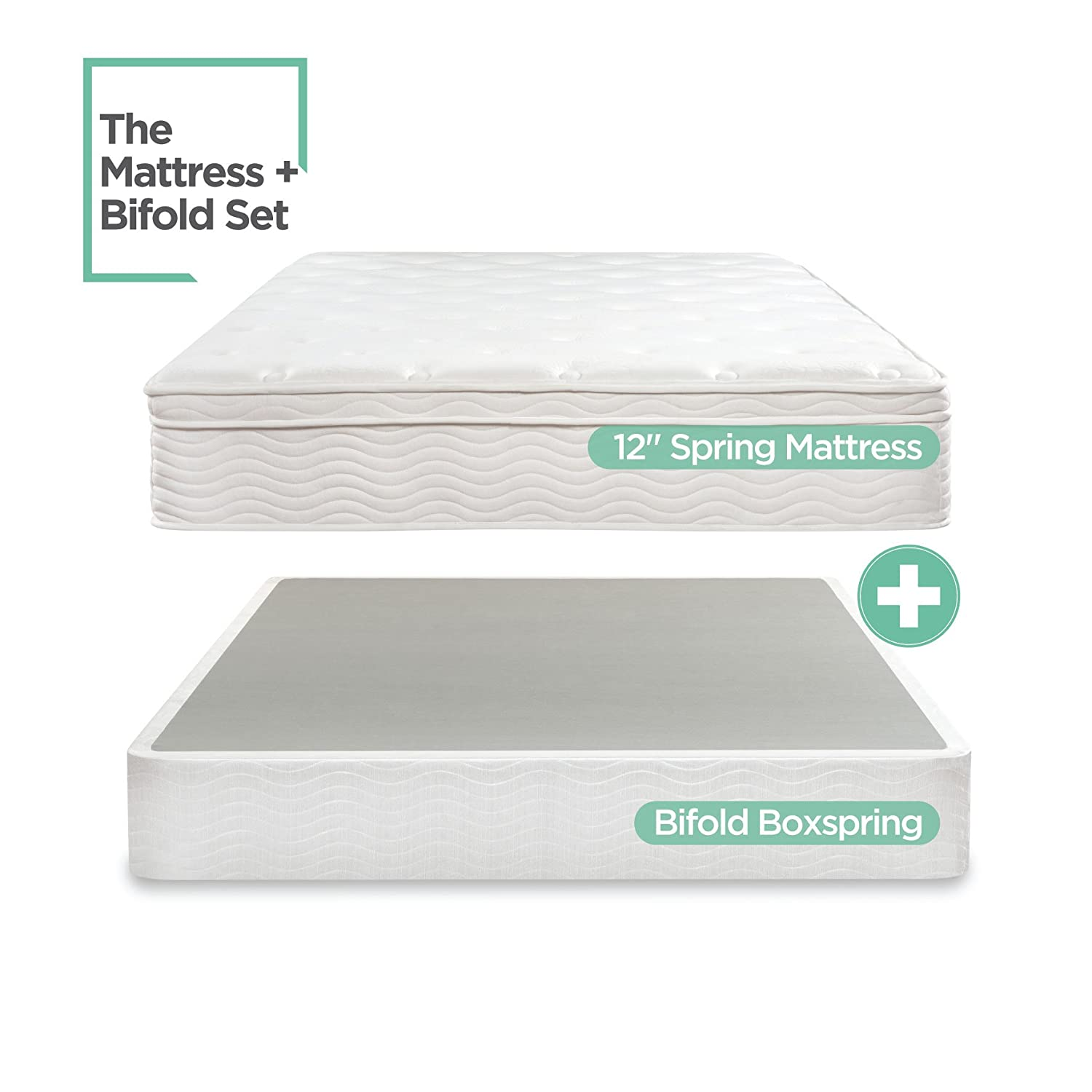 Amazon Night Therapy Spring 12 Inch Euro Box Top Mattress and