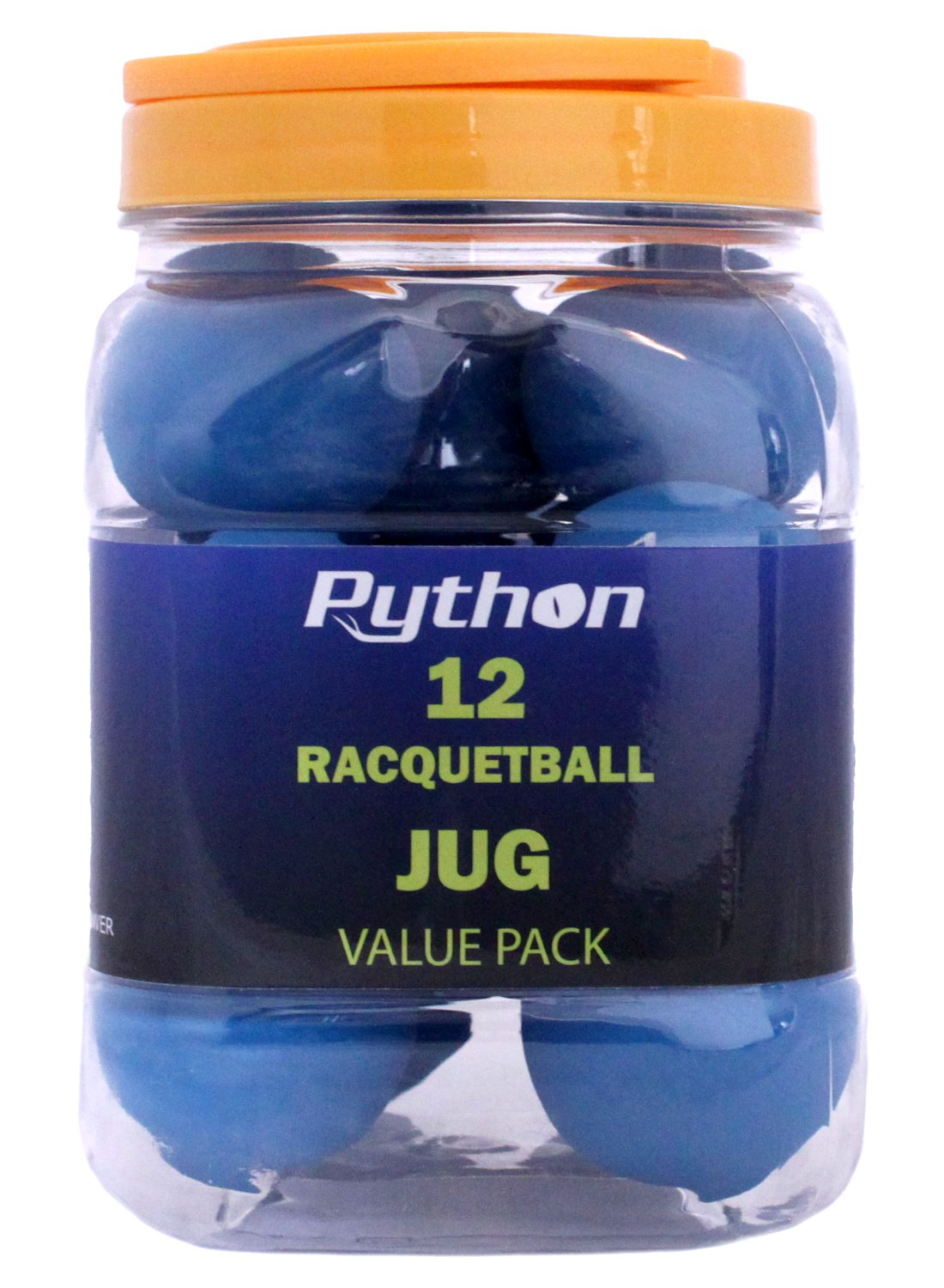 Python Azul Racquetballs (Value Pack - 12 bola jarra ...