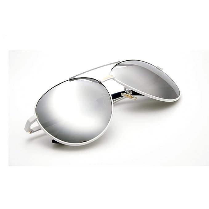 46b57180f Zacway Premium Metal Aviator Gafas de sol polarizadas para hombres mujeres  W/Revo Lentes espejadas - UV400: Amazon.es: Ropa y accesorios