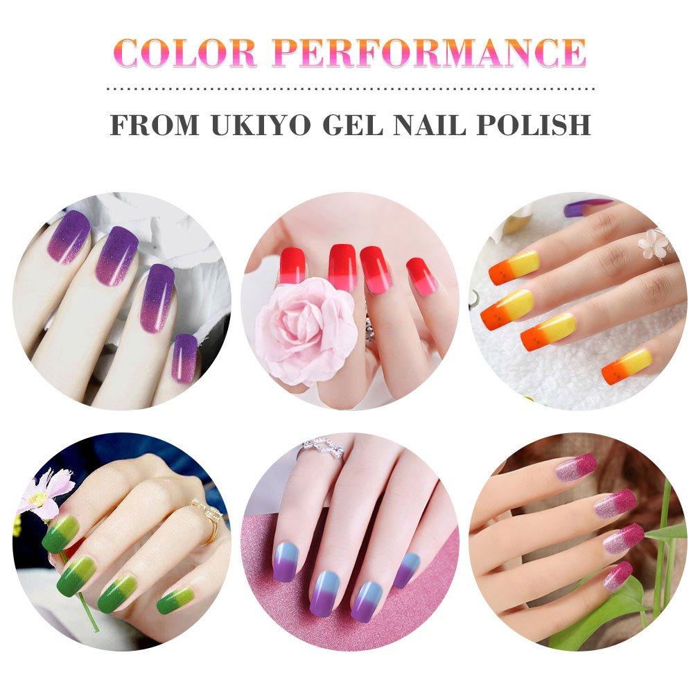 Gel Nail Polish Set - Color de uñas que cambia con base coat y no limpiador Top Coat Esmalte de Uñas: Amazon.es: Belleza