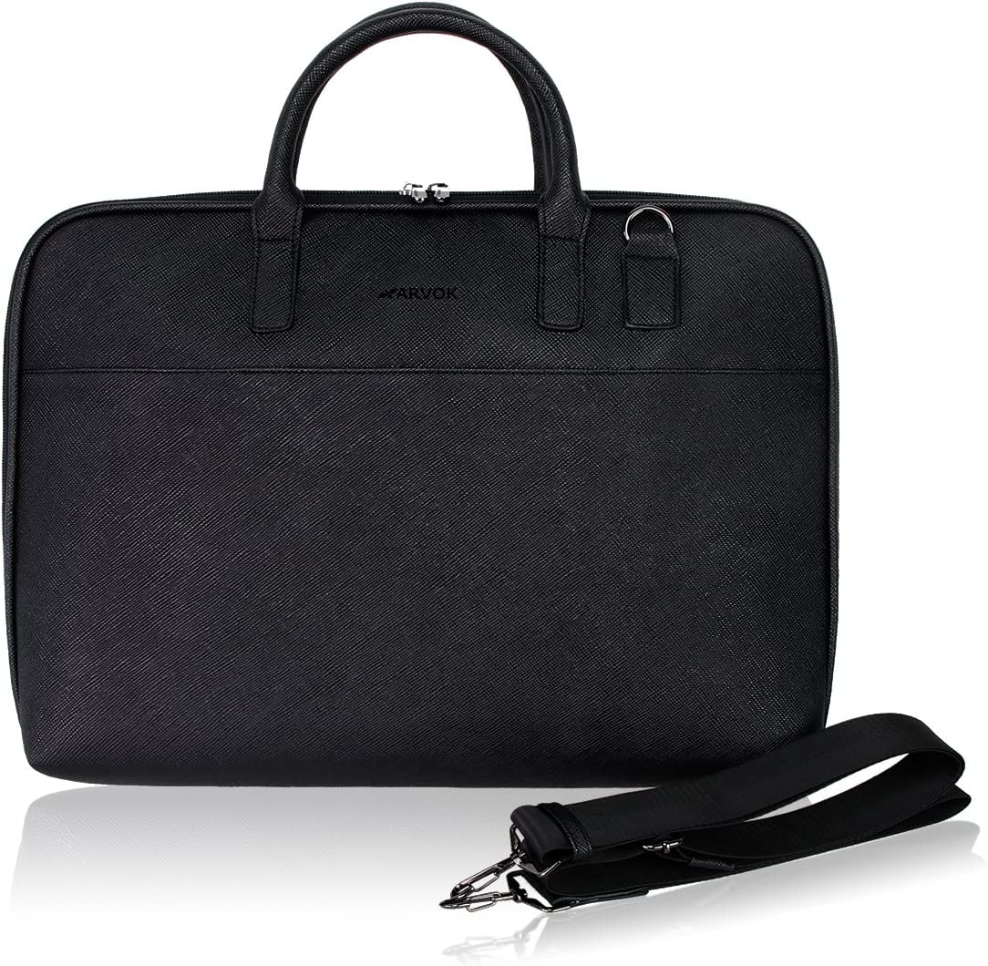 Arvok 13-14 Inch PU Leather Laptop Bag