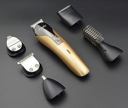 FARI Juego de recortadores de barba, cortapelos recargable ...