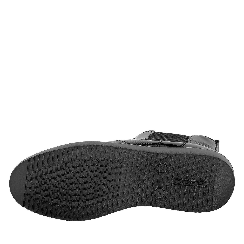 Geox D849HD 000DE C9999 C9999 C9999 Nadynne Damen Stiefelette aus Lackleder mit Geox-System 7b7269