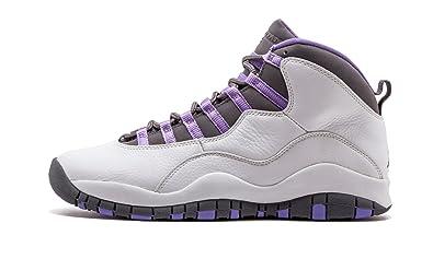the latest 543d0 31248 Amazon.com | Women's Air Jordan 10 Retro White/Med Violet-Lt ...