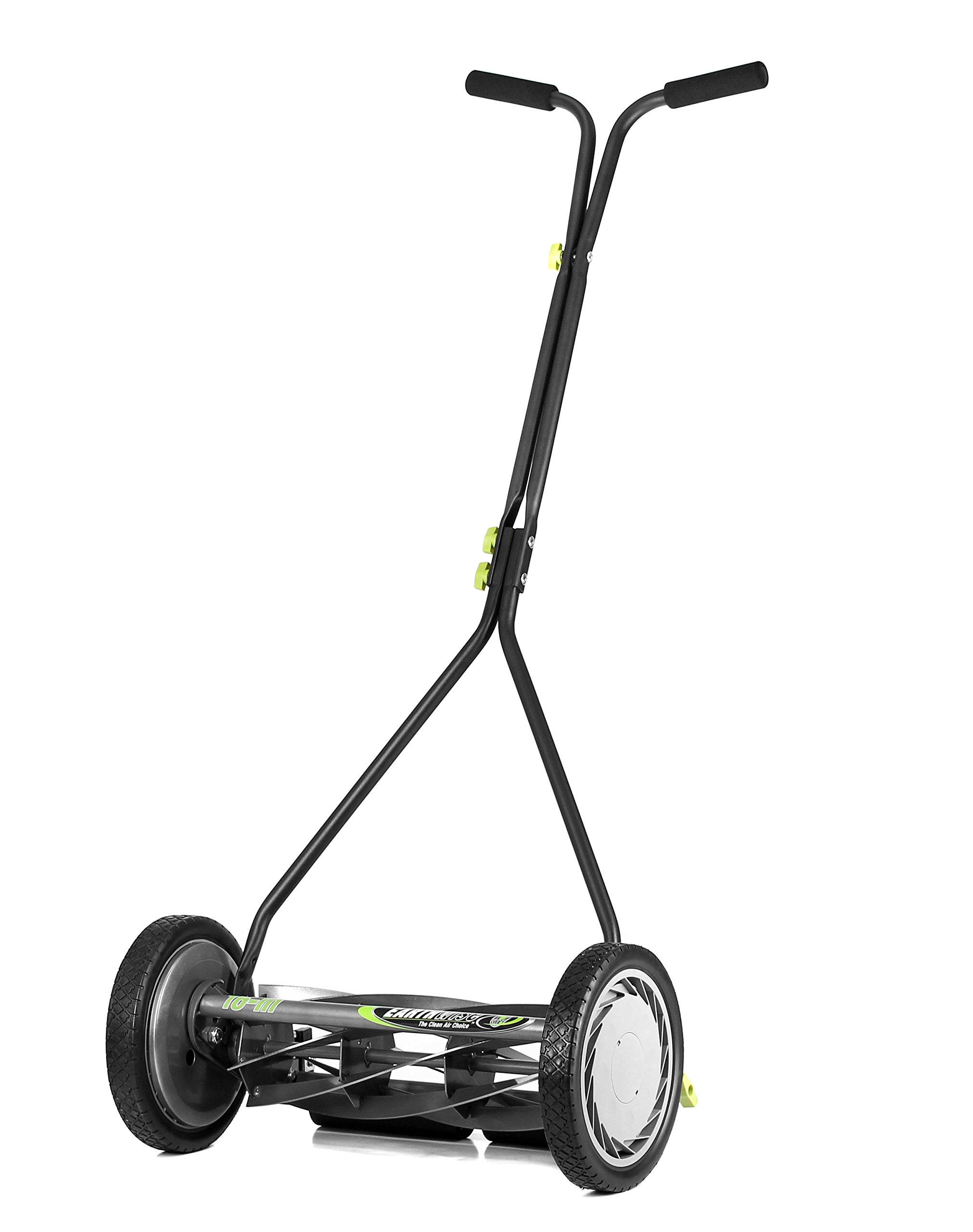 Earthwise 1715-16EW 16-Inch 7-Blade Push Reel Lawn Mower, Gray/Silver/Green by Earthwise