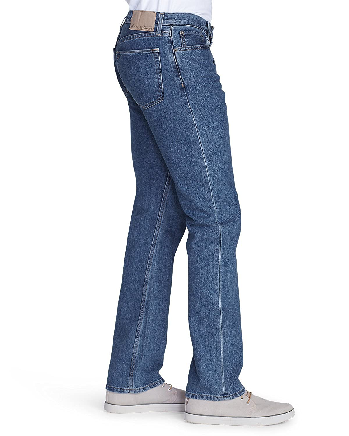 5d0ce448f4225a Eddie Bauer Mens Straight Fit Essential Jeans at Amazon Men's Clothing  store: