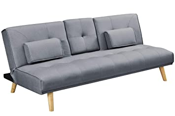 Peachy Dreamwarehouse Brooklyn Charcoal Grey Fabric Modern Scandi Sofa Bed Home Remodeling Inspirations Gresiscottssportslandcom