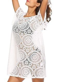 d040021f85266 Meaneor Women s Crochet Lace Beach Dress Swimsuit Bikini Beach Swimwear  Cover up