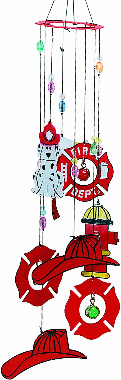 Spoontiques Metal Firefighter Wind Chime