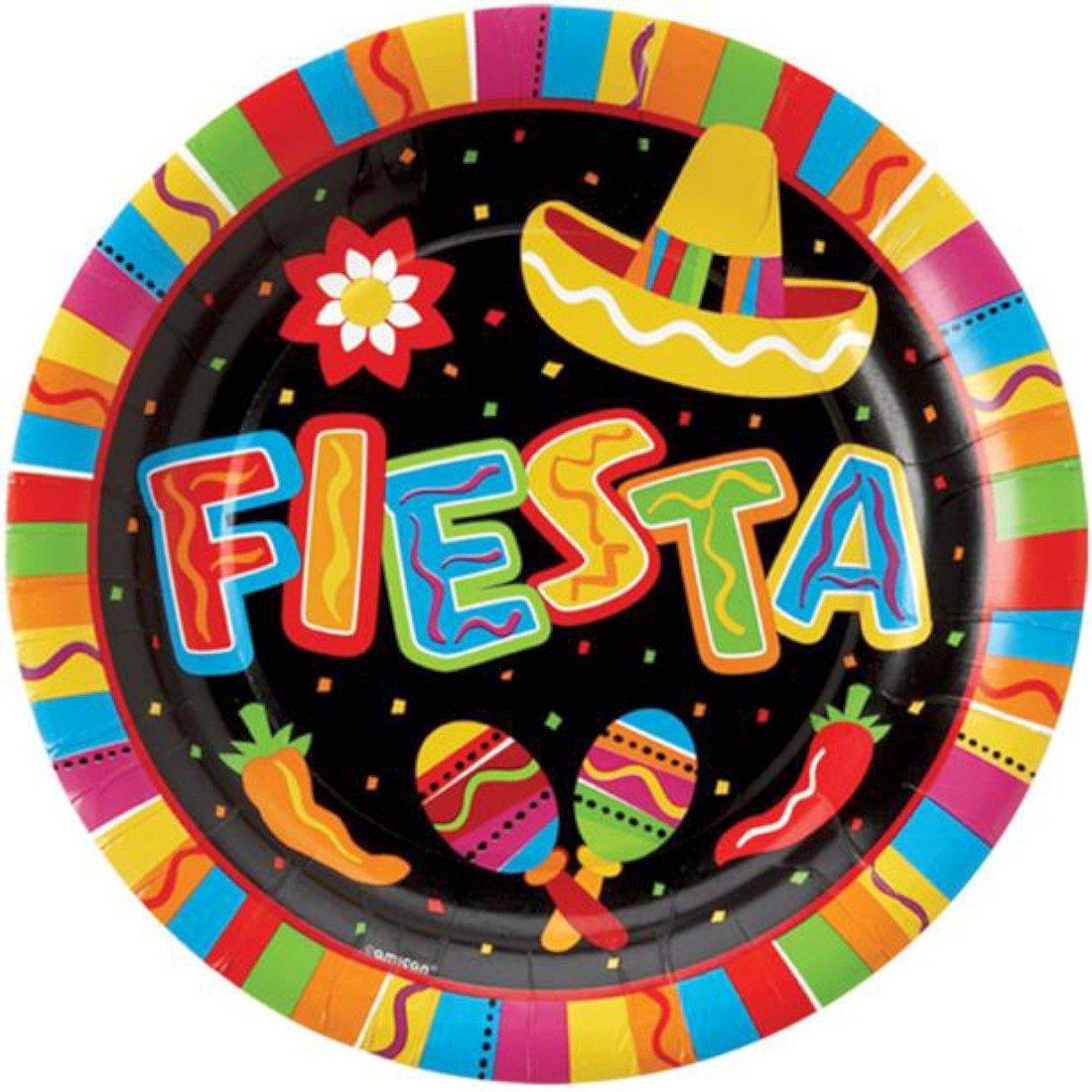 Fiesta Party Plates 27cm 8pk Amscan