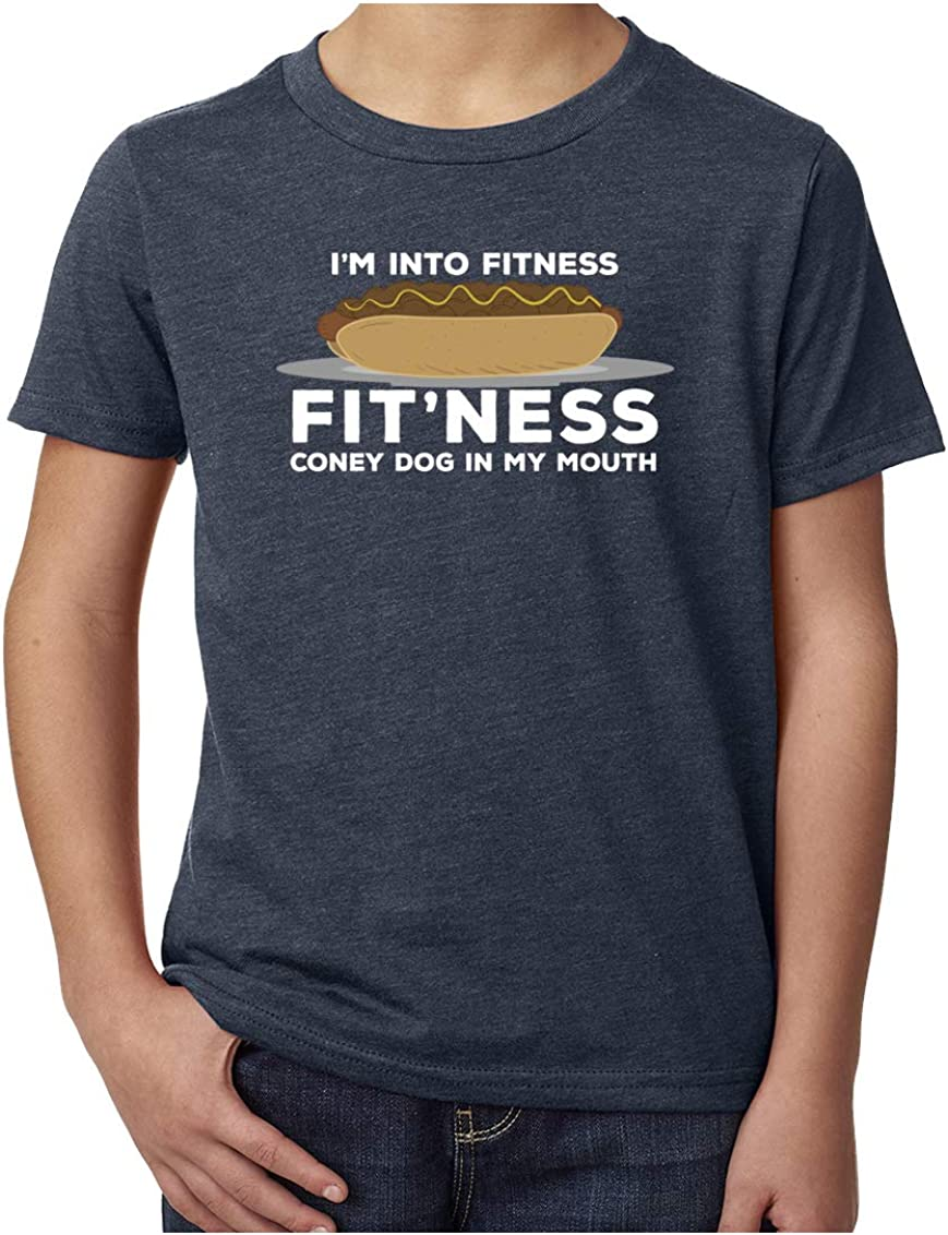 Im into Fitness Fitness Coney in My Mouth Youth Funny Graphic tees