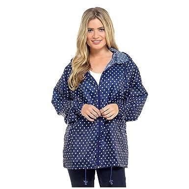 Storm Ridge Ladies Spots Pack Away Rain Mac Jacket  Amazon.co.uk  Clothing dff8bdf592
