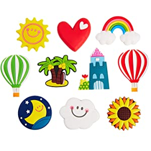 Fridge Magnets Refrigerator Magnets for Toddlers Freezer Office Cabinets-10 pack (funny day)